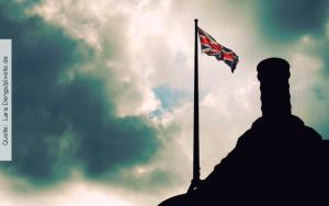 England-Flagge-mit-Burg
