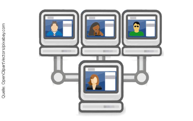 Skype-Interview, Quelle: OpenClipartVectors/pixabay.com