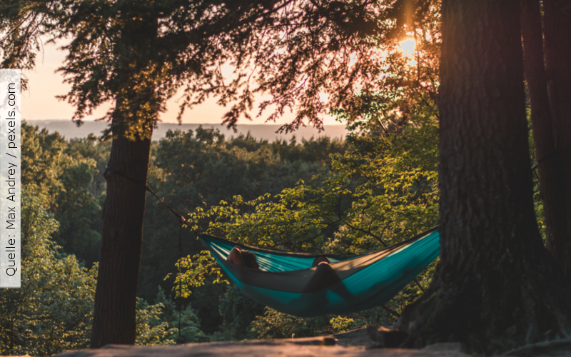 Entspannung_HaengematteimWald