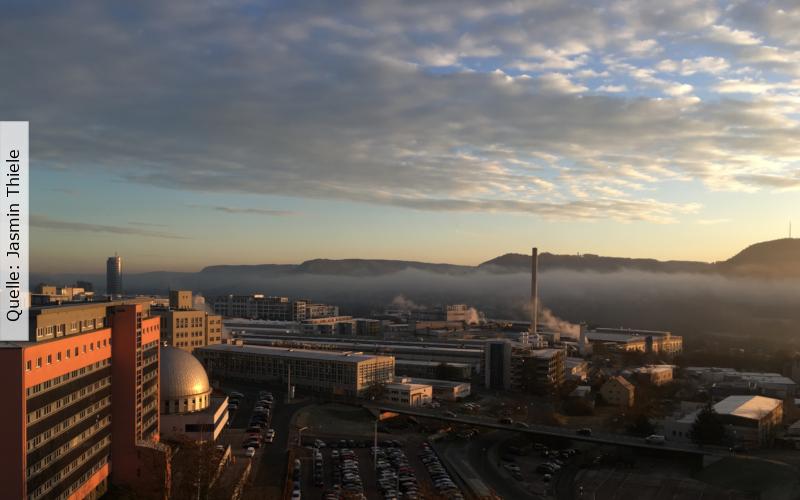 Jena bei Sonnenaufgang